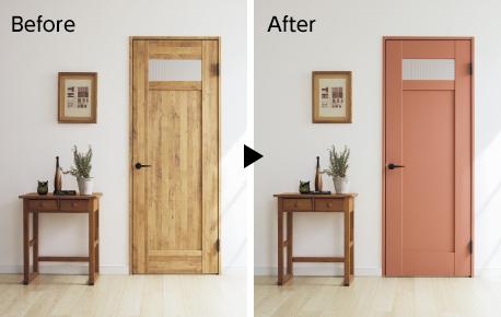 クラフトレーベル 塗れるドア beforeafter
